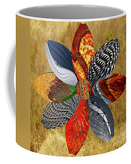 Coffee Mug featuring the digital art Floral Collage by Wendy Wilton