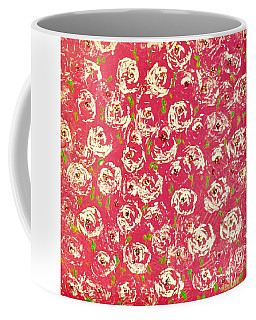 Coffee Mug featuring the painting Floral Design by Norma Duch