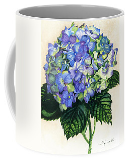 Coffee Mug featuring the painting Floral Favorite by Barbara Jewell