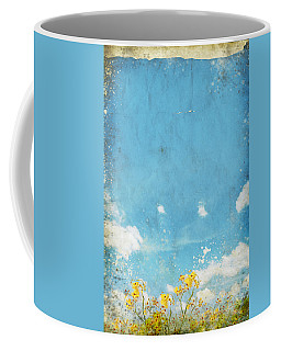 Floral In Blue Sky And Cloud Coffee Mug