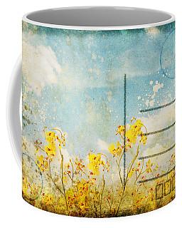 Floral In Blue Sky Postcard Coffee Mug