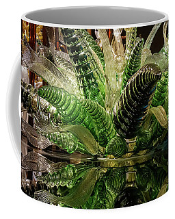 Floral In Glass Coffee Mug