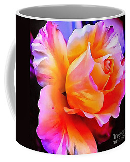 Coffee Mug featuring the painting Floral Interior Design Thick Paint by Catherine Lott