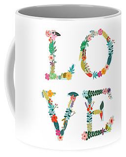 Floral Love Letters Coffee Mug