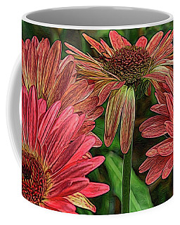 Coffee Mug featuring the photograph Floral Pink by Deborah Benoit