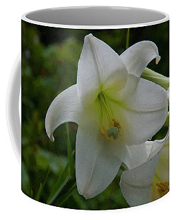 Coffee Mug featuring the painting Floral Print 098 by Chris Flees