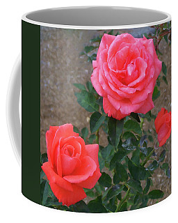 Coffee Mug featuring the painting Floral Print 103 by Chris Flees