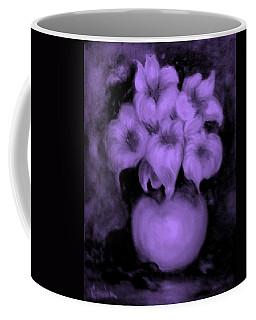 Floral Puffs In Purple Coffee Mug