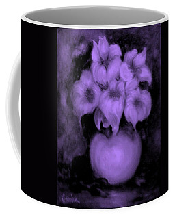 Floral Puffs In Purple Coffee Mug