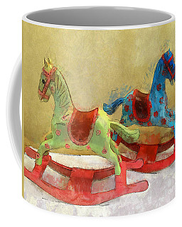 Floral Rocking Horses Coffee Mug