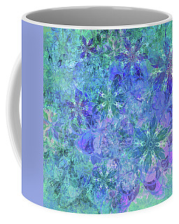 Floral Watercolor Blue Coffee Mug