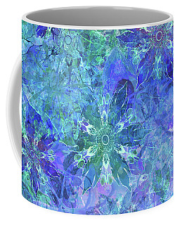 Floral Watercolor Blue Coffee Mug