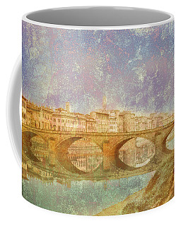 Coffee Mug featuring the photograph Florence, Italy - Ponte Alla Carraia by Mark Forte