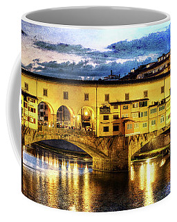 Florence - Ponte Vecchio Sunset From The Oltrarno - Vintage Version Coffee Mug
