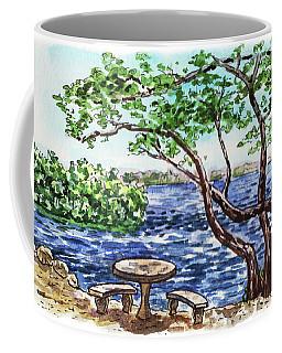 Coffee Mug featuring the painting Florida Keys John Pennekamp Park Shore by Irina Sztukowski