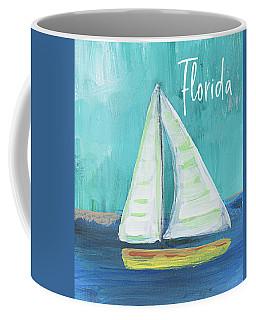 Florida Sailing 2- Art By Linda Woods Coffee Mug
