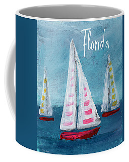 Florida Sailing- Art By Linda Woods Coffee Mug
