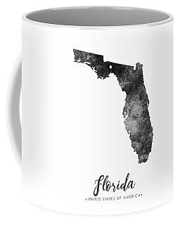 Florida State Map Art - Grunge Silhouette Coffee Mug