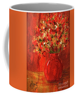 Florists Red Coffee Mug by P J Lewis