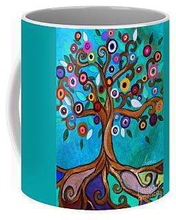 Coffee Mug featuring the painting Flourishing Tree by Pristine Cartera Turkus