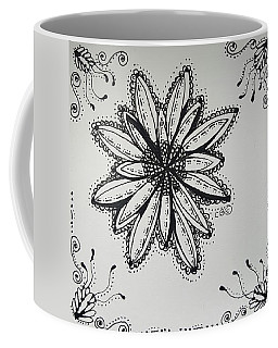Coffee Mug featuring the drawing Flow by Carole Brecht
