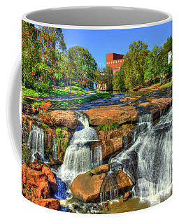 Flow On Reedy River Falls Park Art Greenville South Carolina Art Coffee Mug