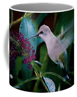 Flower And Hummingbird Coffee Mug