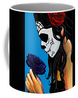 Flower And Skull Coffee Mug