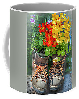 Flower Boots Coffee Mug