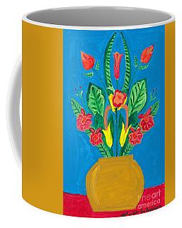 Flower Bowl Coffee Mug by Margie-Lee Rodriguez