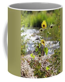 Flower By Stream Coffee Mug