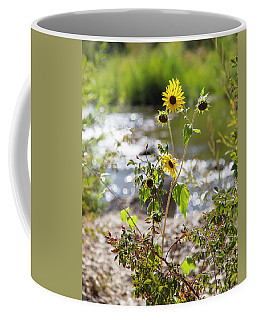 Flower By Stream Coffee Mug