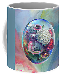Flower Drop Blues Coffee Mug