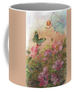 Flower Fairy Butterfly Roses Coffee Mug