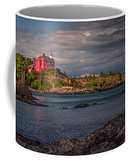 Flower Fan Club At Marquette Harbor Light Coffee Mug