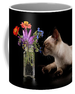 Flower Feline Coffee Mug