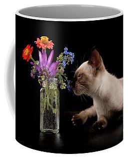 Flower Feline Coffee Mug