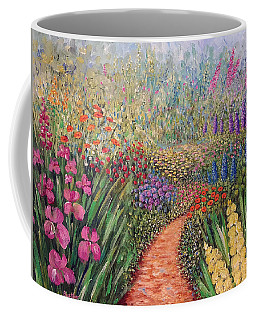 Coffee Mug featuring the painting Flower Gar02den  by Lynn Buettner