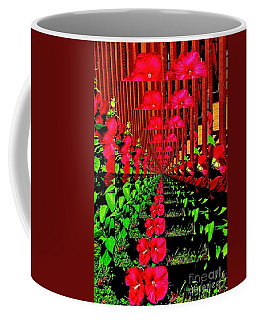 Coffee Mug featuring the digital art Flower Garden Abstract by Marsha Heiken
