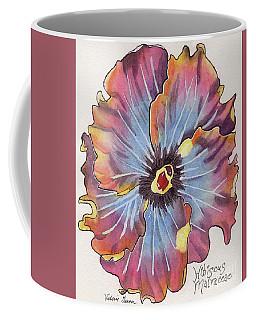 Flower Hibiscus Malvaceae Watercolor Painting Coffee Mug