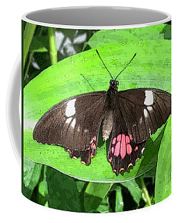 Flower Imprint On Wing Coffee Mug