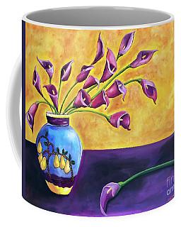 Flowers In Blue Vase Coffee Mug