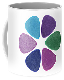 Flower Made Of Guitar Picks Coffee Mug