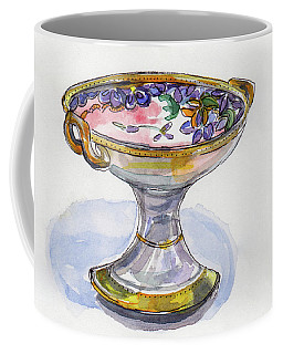 Flower Pedestal Dish Coffee Mug
