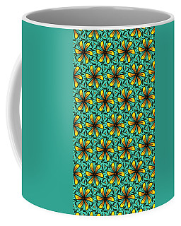 Flower Pinwheels Design Coffee Mug