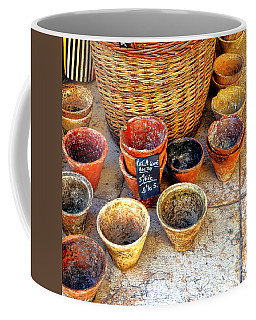 Coffee Mug featuring the photograph Flower Pots In Provence by Olivier Le Queinec