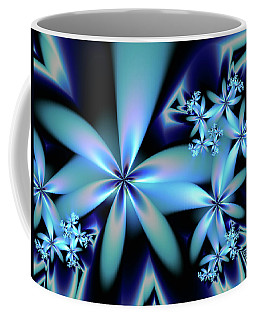 Flower Power Blue Coffee Mug