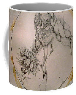 Coffee Mug featuring the drawing Flower Power by Rosanne Licciardi