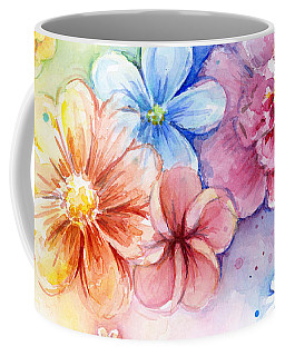 Flower Power Watercolor Coffee Mug