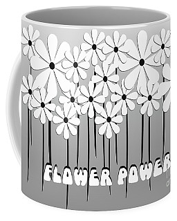 Flower Power - White  Coffee Mug